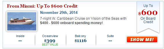 Vision of the Seas Deal