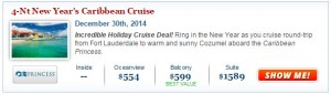 Caribbean Princess New Years Eve Cruise Deal