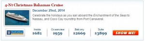 Royal Caribbean New Years Cruise Deal