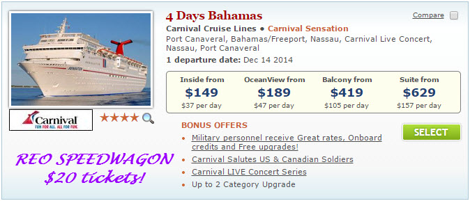 Carnival Cruises Starting At $90 In Pack & Go Sale