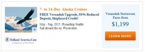 2015 Holland America Alaska Deals