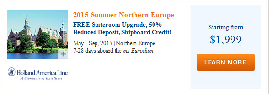 2015 Holland America Summer Northern Europe