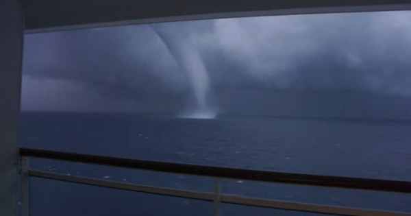 Cruise Ship Waterspout Photo