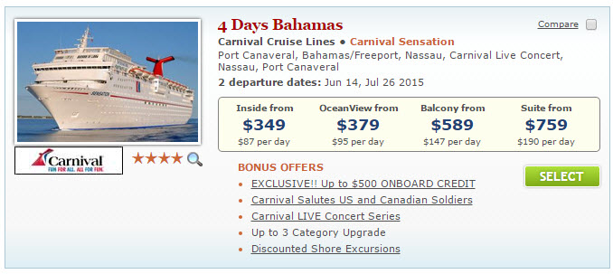 LastMinute Summer Cruise Deals CruiseSource - Cruise deal