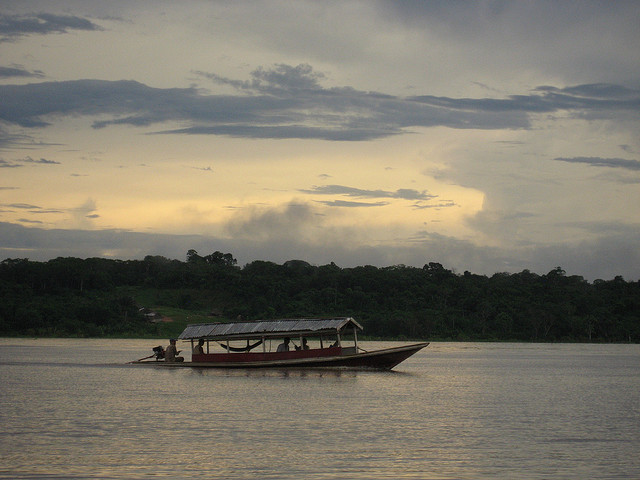 Amazon River Boat Photo by Kate Fisher