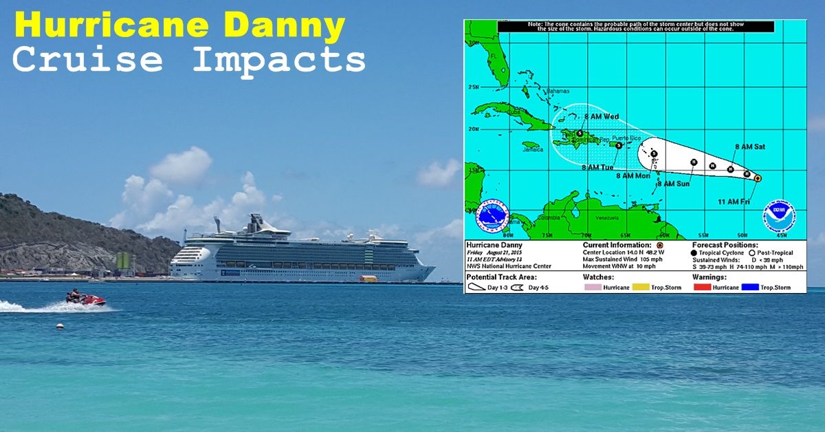 Hurricane Danny Cruise Impacts